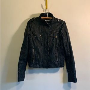 M faux leather jacket $15